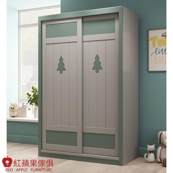 [紅蘋果傢俱]LOD-602 趟門衣櫃 實木衣櫃 兒童衣櫃 臥室組 北歐風 簡約風