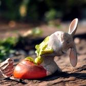 微景觀擺件 新品可愛卡通迷你小動物擺件微景觀造景多肉花盆裝飾品桌面小擺設
