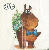 新貨到!BEST WISHES小夥伴-德國 IHR 餐巾紙(33x33cm)