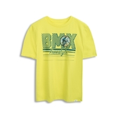 Gap男童創意風格印花圓領短袖T恤550116-黃色