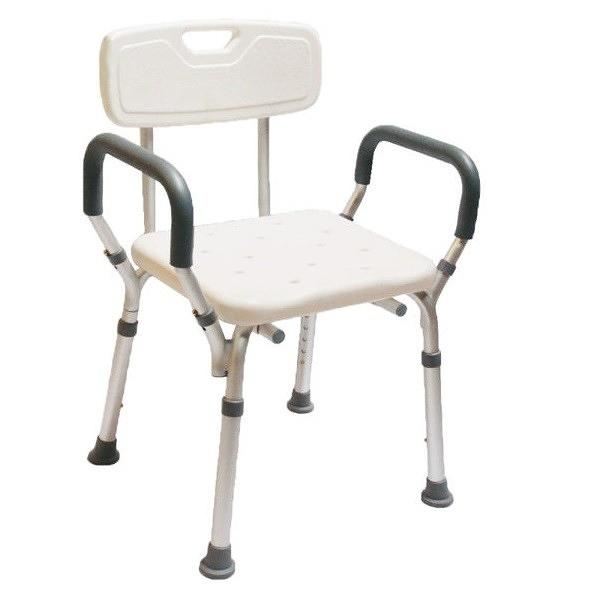 杏華 寬座扶手有靠背 洗澡椅 顏色隨機出貨 +愛康介護+