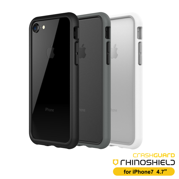 RHINO SHIELD犀牛盾iPhone SE2/7/8 4.7吋 科技緩衝材質耐衝擊邊框殼-黑色系