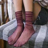 金銀絲襪漁網超薄款堆堆襪