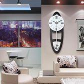 新款中式鐘表客廳創意時尚北歐掛鐘現代簡約大氣時鐘臥室家用歐式 js7975『小美日記』
