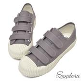 訂製鞋 魔鬼氈車線帆布餅乾鞋-灰色下單區