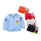 寶寶外套 卡通人物 嬰幼兒毛圈外套夾克 拉鍊棉質外套 童裝 XZH10805 好娃娃