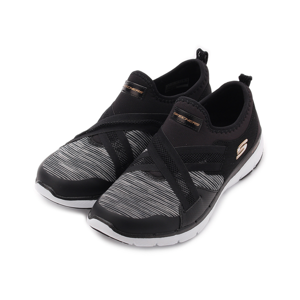 SKECHERS FLEX APPEAL 3.0 套式運動鞋 黑白 13073BKW 女鞋