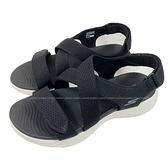 (C5) SKECHERS 女鞋 ON-THE-GO 600涼拖鞋 健走涼鞋 魔鬼氈 Q彈140027BKW黑 [陽光樂活]