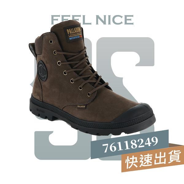 PALLADIUM PAMPA CUFF LITE+WP 巧克力棕 男女 防水 皮革 軍靴 76118249