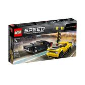 75893【LEGO 樂高積木】賽車系列 Speed 道奇對決2018 Dodge Challenger SRT Demon and 1970 Dodge Charger R/T(478pcs)