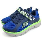 《7+1童鞋》中童 SKECHERS 輕量 透氣 慢跑運動鞋 B972  藍色