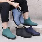 雨鞋 防水防滑雨鞋男士時尚成人加絨雨靴低...