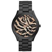 Michael Kors MK 狂野時尚派對手錶-黑x玫瑰金/42mm MK3316