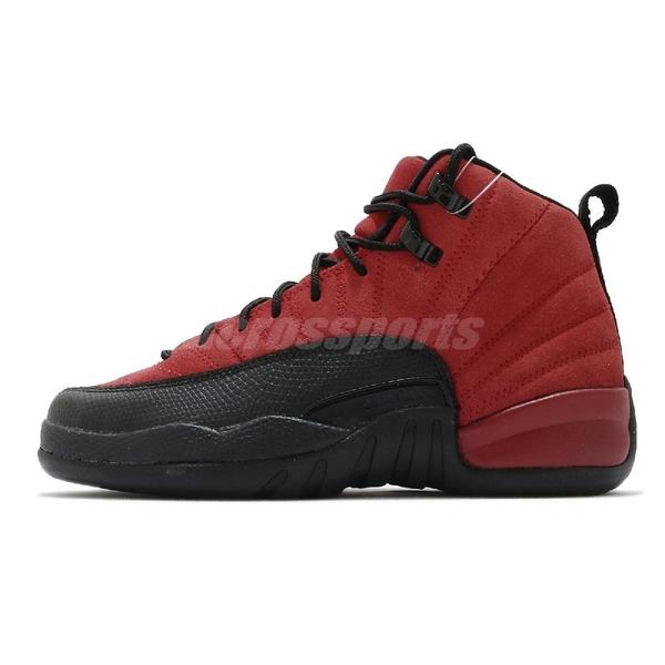 Nike 籃球鞋 Air Jordan 12 Retro GS 紅 黑 女鞋 AJ12 反轉黑紅 喬登 十二代 【ACS】 153265-602