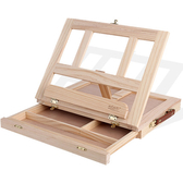 畫架 桌面臺式木制油畫架箱 初學者素描寫生畫架畫板套裝折疊多功能一體式畫架WY 快速出貨
