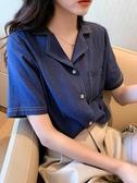 短袖襯衫女2020年夏季新款設計感小眾溫柔風上衣寬鬆薄款白襯衣潮 雙11提前購