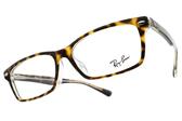 RayBan光學眼鏡RB5378D 5082 (琥珀棕-透明) 時尚方框款 平光鏡框 # 金橘眼鏡