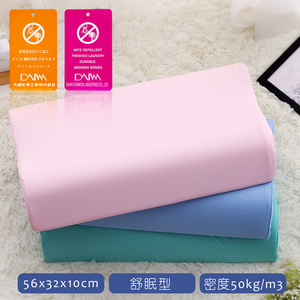【1/3 A LIFE】防蹣抗菌-舒眠56cm竹炭記憶枕(2入)天空藍