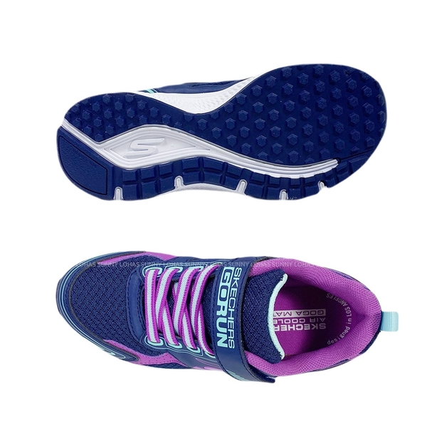 (B9) SKECHERS 女童鞋 GORUN CONSISTENT 慢跑運動鞋 魔鬼氈 302401LNVPR藍紫 [陽光樂活]
