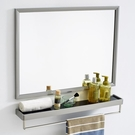 浴室鏡 壁掛衛生間衛浴化妝洗手間不銹鋼洗漱臺-免運直出zg