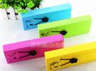 韓國創意文具盒簡約可愛時尚彩色化妝盒鈕扣鬆緊帶筆盒/筆袋 【特價】★beauty pie★