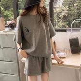 運動套裝套裝夏韓版潮時尚短袖短褲休閒兩件套少女學生幼師寬鬆運動裝 寶貝計劃