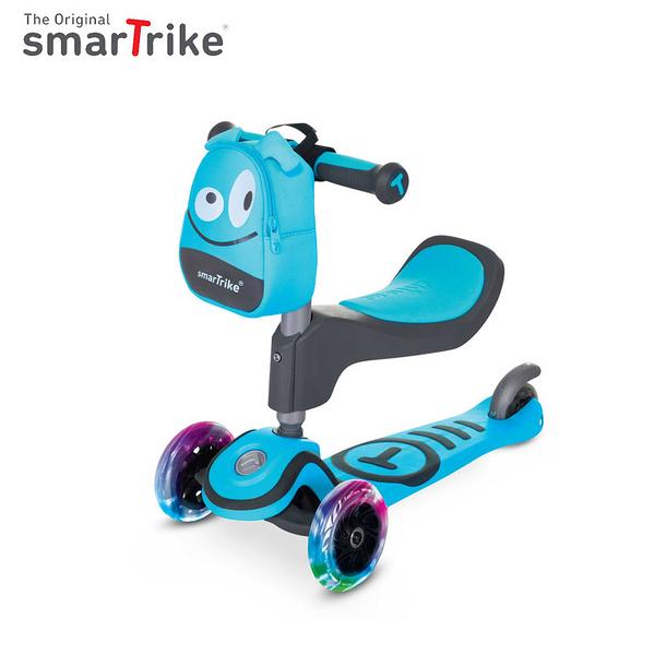 英國smarTrike T1炫亮我行 3 steps滑步車/滑板車-天藍ST2020101