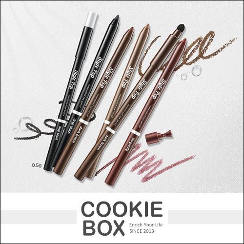 【即期品】韓國 Aritaum Style Pop 防水 眼線筆 眼影筆 兩用 持久 附海綿頭 削鉛筆器 0.5g *餅乾盒子*