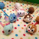 【發現。好貨】日本迪士尼可愛tsum tsum 醜丫頭史迪奇瑪麗貓奇奇蒂蒂松鼠雙頭髮束髮圈髮飾