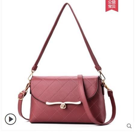 中年女包媽媽包包2021新款潮時尚斜挎包軟皮單肩小包買菜包零錢包 3C數位百貨