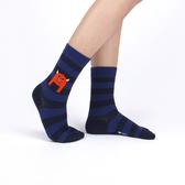 韓國 socks appeal® X SML 睡不飽小怪物 條紋中桶襪 (海軍藍)