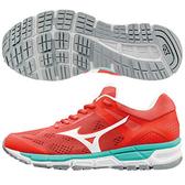 MIZUNO SYNCHRO MX 2 女鞋 慢跑 休閒 U4icX材質 網布 環保皮革  膠底  橘紅 銀白 【運動世界】 J1GF171901