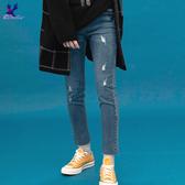 【秋冬降價款】American Bluedeer - 顯瘦高腰牛仔褲(魅力價)  秋冬新款