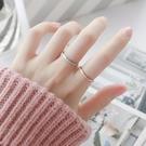 情侶戒指 冷淡風chic戒指女時尚網紅細版磨砂男女情侶對戒尾戒個性鈦鋼食指