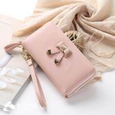 錢包 日韓新款拉鏈學生長款錢包女小清新個性蝴蝶結手拿包