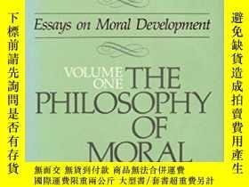 二手書博民逛書店the罕見Philosophy of Moral Develop