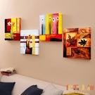 單幅 美式油畫裝飾畫背景墻無框畫客廳掛畫...