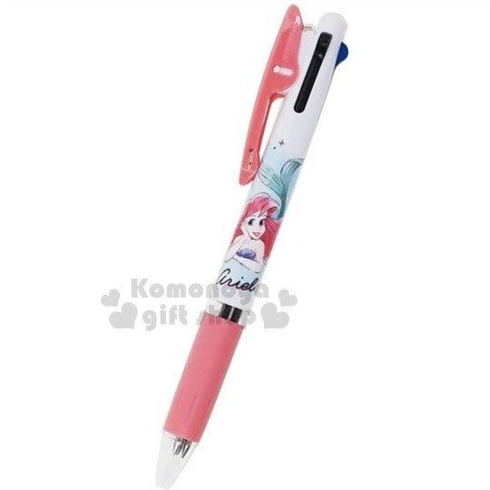 〔小禮堂〕迪士尼 小美人魚 日製多色原子筆《粉.趴姿》3色筆.Jetstream系列 4991277-09744