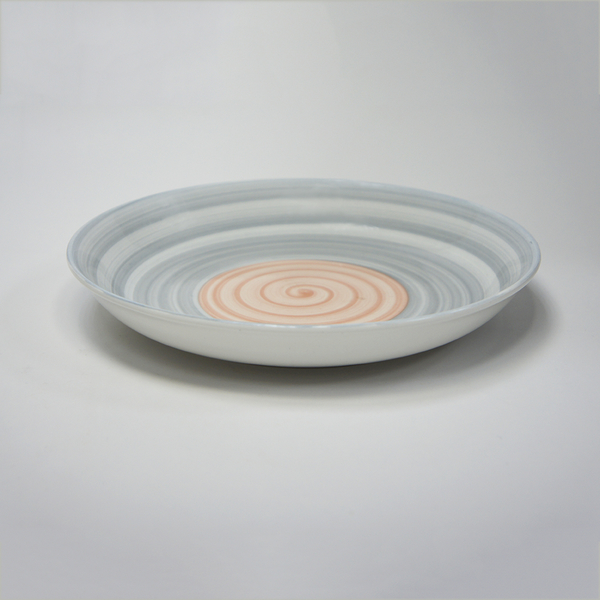 原點居家創意彩虹陶瓷圓盤 日韓風格 家用菜盤 手繪陶瓷盤(2色任選)
