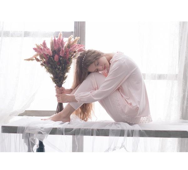 春夏季新款梭织全棉睡衣女士薄款甜美公主家居服纯棉套装 -swe007