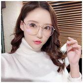 大框圓臉眼鏡框防藍光護目鏡女韓版潮平光鏡早秋促銷