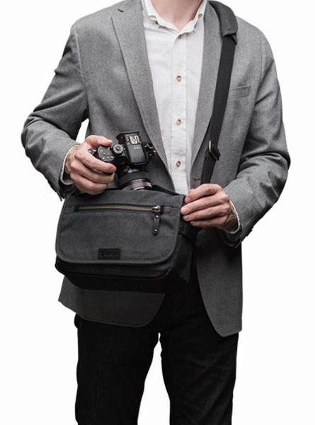 【聖影數位】Tenba 天霸 Cooper 8 酷拍 肩背帆布包 攝影肩背包 灰色 637-401 公司貨
