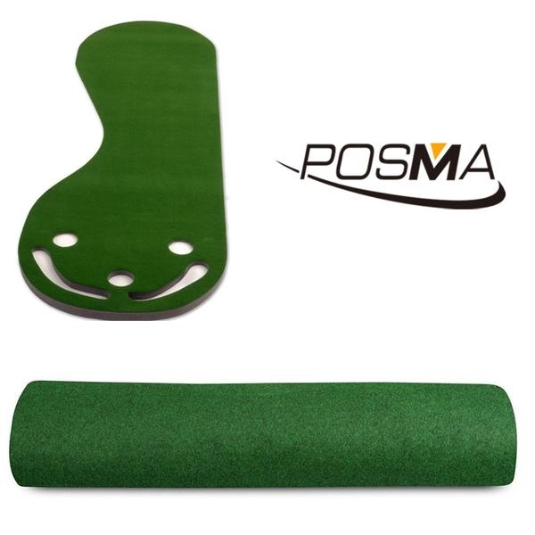 POSMA 高爾夫 3洞口果嶺推桿墊 搭3件套組 贈 輕便收納長桿包 PG190B