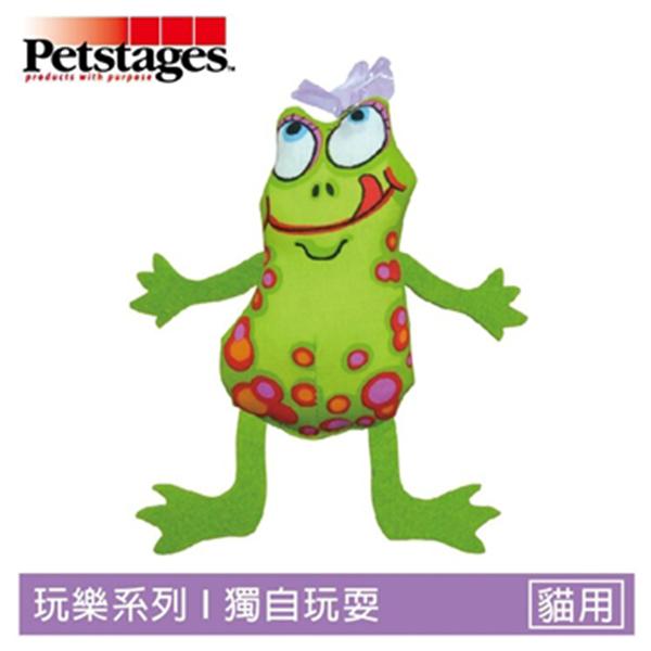 ☆御品小舖☆ 美國 Petstages 746 飛翔綠青蛙 寵物貓咪玩具 貓用歡樂磨牙寵物玩具