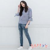 betty's貝蒂思 漸層配色刷破牛仔褲(復古藍)