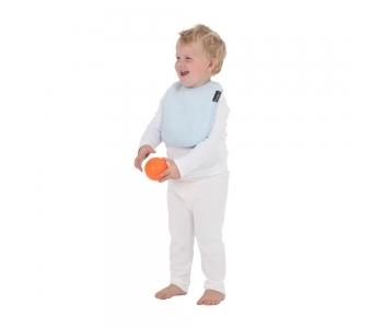 紐西蘭 Mum 2 Mum 機能型神奇口水巾圍兜-寶寶款-粉藍 吃飯衣 口水衣 防水衣