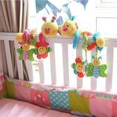嬰兒多功能床鈴床繞床掛嬰兒推車玩具布藝搖鈴毛絨毛毛蟲玩具