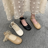 豆豆鞋女2021春季新款韓版百搭平底學生一字扣單鞋女鞋軟底奶奶鞋 韓國時尚週