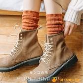 堆堆襪女秋冬襪子女中筒襪羊毛襪復古百搭【小橘子】