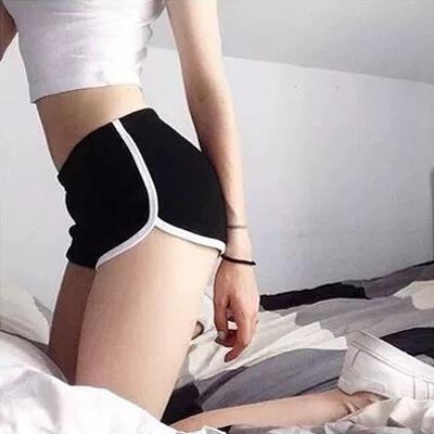 真理褲 居家運動短褲修飾好臀型防走光夏女高腰棉質跑步休閒熱褲沙灘褲-Ballet朵朵